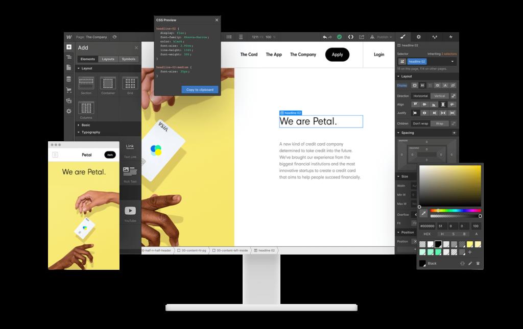 Webflow là một phần mềm thiết kế web phức tạp.