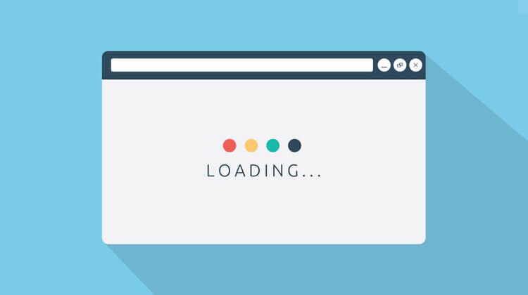 Sai lầm khi thiết kế website là Tốc độ tải trang chậm.